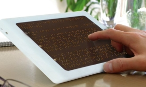 Image of a braille reader