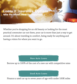 Allegacy auto loans page