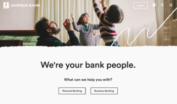 Umpqua Bank's home page
