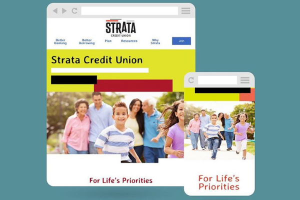 Website Makeover: Strata Credit Union