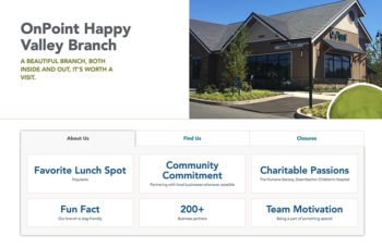 onpoint branch page
