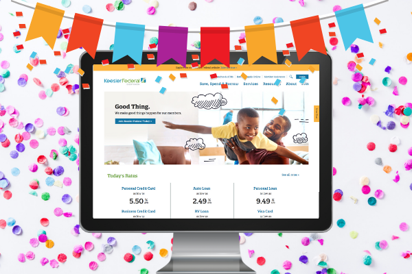 It Launched! Keesler Federal Credit Union's New Website Is Here