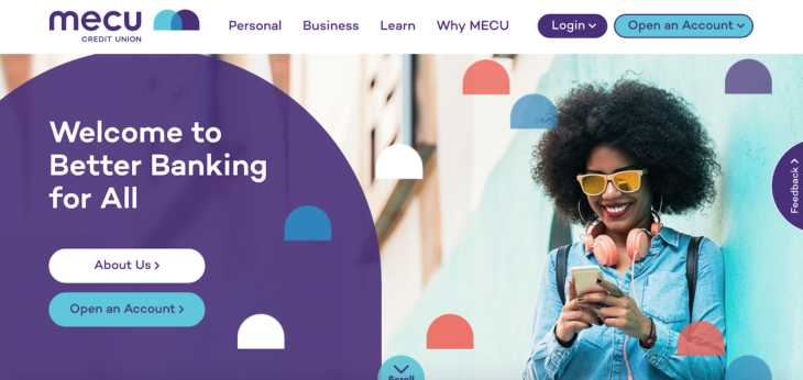 Color scheme on MECU homepage