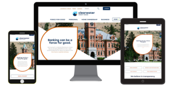 Clearwater website on mobile, desktop and tablet