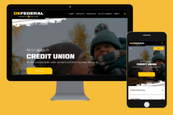 OE Federal website on deskop and mobile