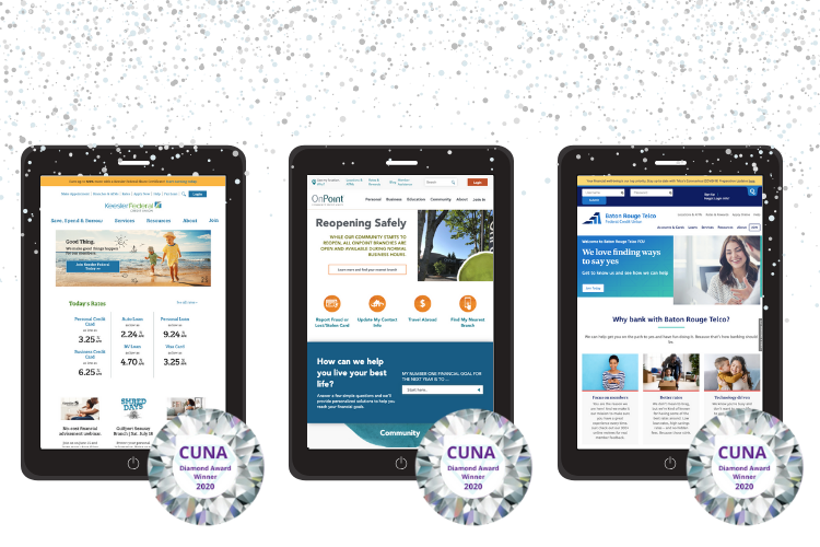 Keesler Federal, OnPoint, and Baton Rouge Telco Federal Credit Union Win 2020 CUNA Diamond Awards