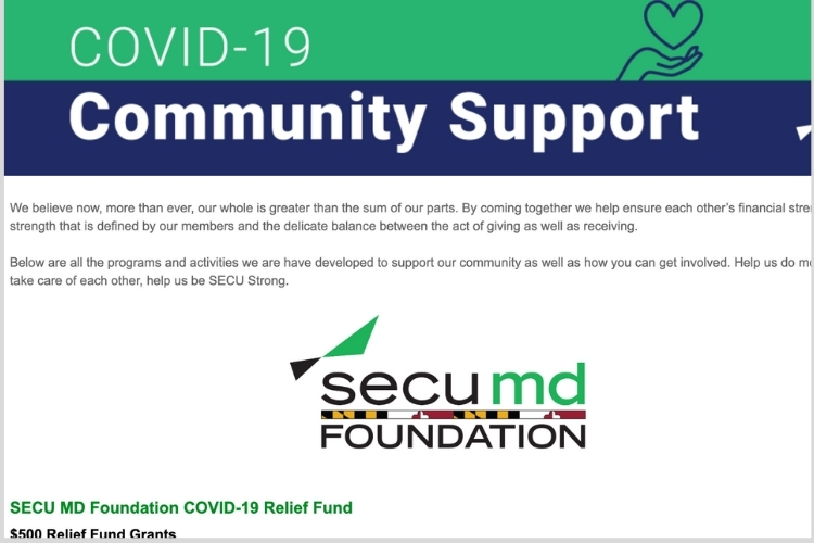 SECU Md Community Relief Grants