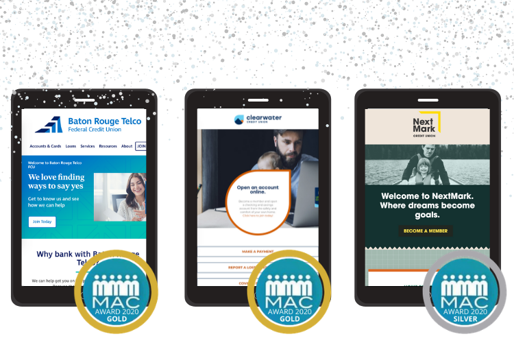 Baton Rouge Telco Federal Credit Union, Clearwater Credit Union, and NextMark Credit Union Win 2020 MAC Awards