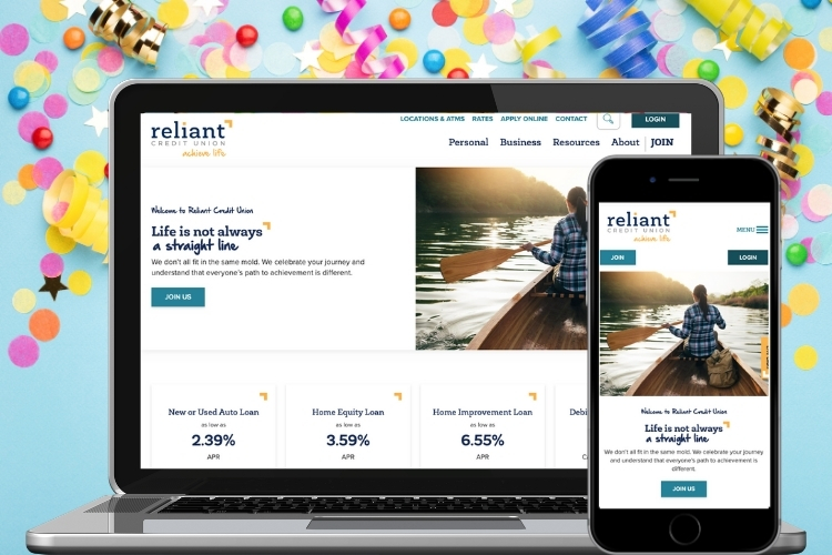 It Launched! Reliant Credit Union's New Website is Here