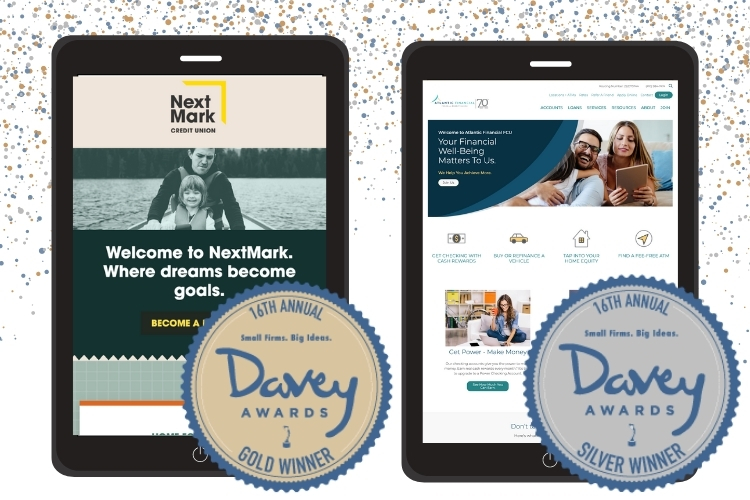 NextMark Credit Union and Atlantic Financial FCU Win 2020 Davey Awards