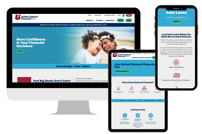 United Teletech Financial Federal Credit Union Has a Shiny New Website